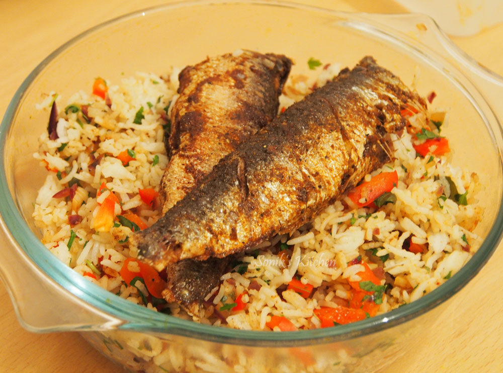 Spiced Sardines with Mediterranean Herbed Rice