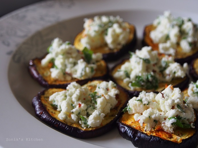 Aubergine with Feta Cheese