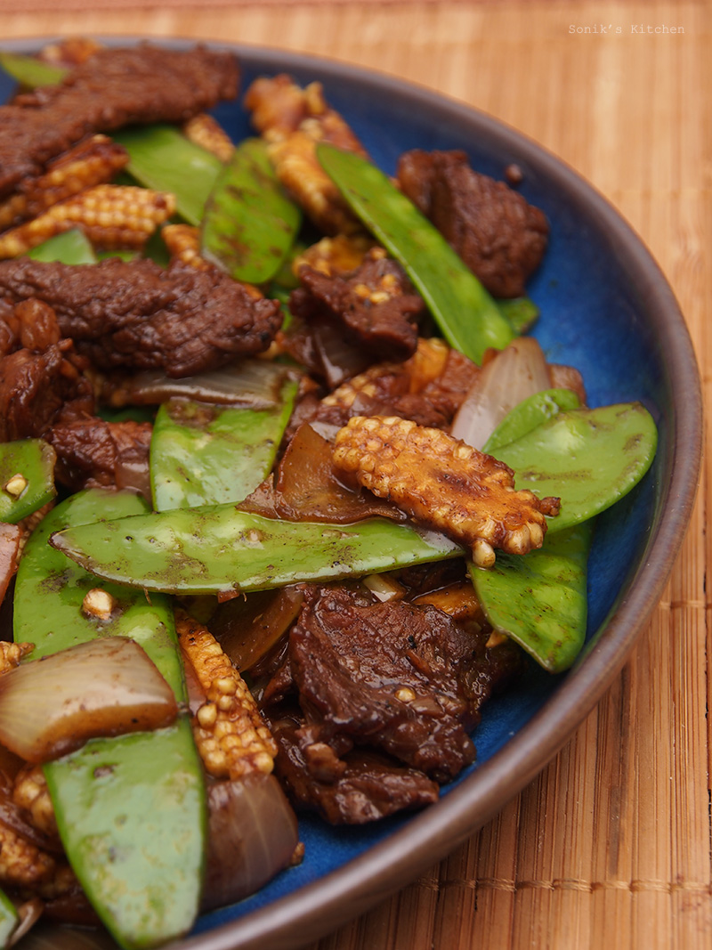 Stir-fried Beef with Mangetout