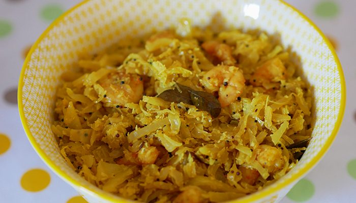 Cabbage and Prawn Thoran