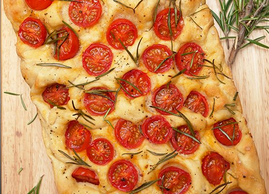 Cherry Tomato and Rosemary Focaccia