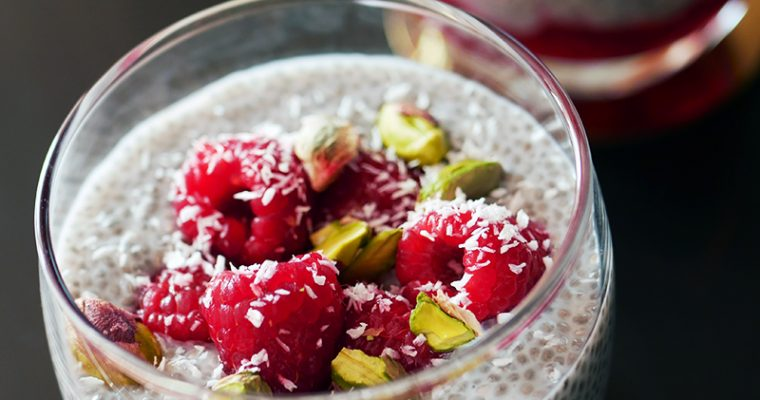 Coconut & Raspberry Chia Pudding