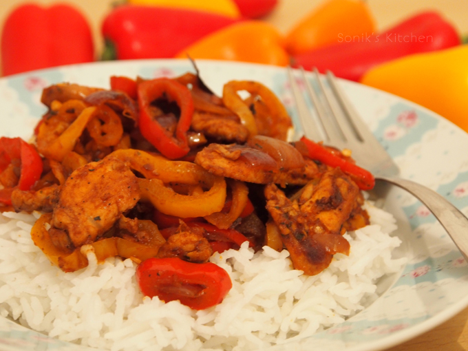 Skillet Chicken with Mini Peppers
